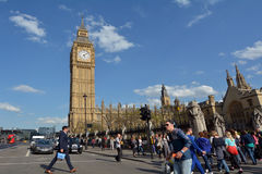 Big Ben clock tower on Elizabeth Tower of Palace of Westminster Stock Photography