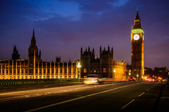 Big Ben Clock Tower and House of Parliament in the night, London Royalty Free Stock Image