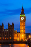 Big Ben Clock Tower and Houses of Parliament at city of westmins Royalty Free Stock Images