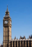 Big Ben clock tower. On the Houses of Parliament in London, England Stock Image