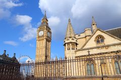 Big Ben. Clock tower - landmark of London, UK Royalty Free Stock Image