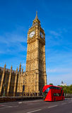 Big Ben Clock Tower and London Bus Royalty Free Stock Photography