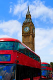 Big Ben Clock tower and London Bus in UK Royalty Free Stock Image