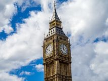 Big Ben clock Tower, London. Close up view of the Big Ben clock Tower in London England Royalty Free Stock Photo