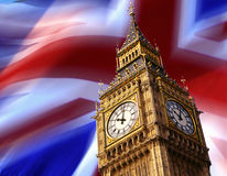 Big Ben Clock Tower - London - England. The Clock Tower of Big Ben in London in Great Britain Stock Photo