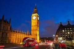 Big Ben Clock Tower in London England Royalty Free Stock Photos