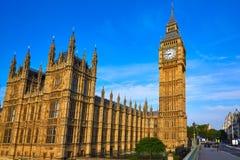 Big Ben Clock Tower in London England Stock Image