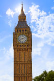 Big Ben Clock Tower in London England Royalty Free Stock Image