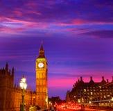 Big Ben Clock Tower in London England. Uk Royalty Free Stock Photos