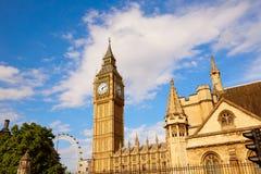 Big Ben Clock Tower in London England Royalty Free Stock Image