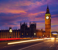Big Ben Clock Tower in London England Stock Photo