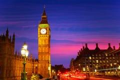 Big Ben Clock Tower in London England Stock Photos