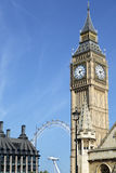 Big Ben clock tower, London, Houses of Parliament, vertical, copy space Stock Photo