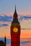 Big Ben Clock Tower in London sunset England Stock Photo