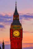 Big Ben Clock Tower in London sunset England Royalty Free Stock Photography