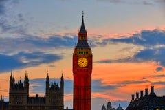 Big Ben Clock Tower London at Thames River Stock Photography