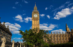 The Big Ben clock tower in London, UK. Royalty Free Stock Photos