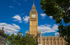 The Big Ben clock tower in London, UK. The famous Big Ben clock tower in London, UK Stock Photos