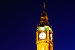 Big Ben and Clock Tower in the Night Stock Photography