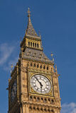 Big Ben clock tower Westminster London. Clock tower, known as Big Ben, at the Palace of Westminster, London, England Royalty Free Stock Photo
