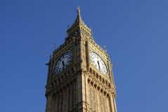 Big Ben clock tower at the Palace of Westminster in London, England Stock Image