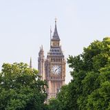 Big Ben, Clock tower of the Palace of Westminster, London, United Kingdom. England. The tower is officially known as Elizabeth Tower, it was known as the Clock Stock Photo