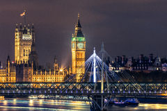 Big Ben Clock Tower and Parliament house Royalty Free Stock Photography