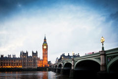 Big Ben Clock Tower and Parliament house Stock Photos