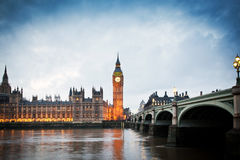 Big Ben Clock Tower and Parliament house Royalty Free Stock Photos