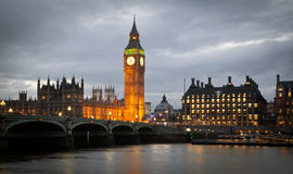 Big Ben Clock Tower and Parliament house Royalty Free Stock Image