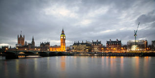Big Ben Clock Tower and Parliament house Stock Images