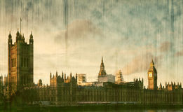 Big Ben Clock Tower and Parliament house Royalty Free Stock Images