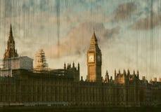 Big Ben Clock Tower and Parliament house Stock Photos