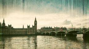 Big Ben Clock Tower and Parliament house. At city of westminster, London England UK Stock Images