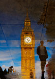 Big Ben Clock Tower puddle reflection London Royalty Free Stock Photo