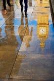 Big Ben Clock Tower puddle reflection London Stock Image