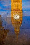 Big Ben Clock Tower puddle reflection London Royalty Free Stock Images