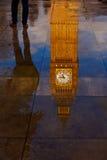 Big Ben Clock Tower puddle reflection London Stock Photo