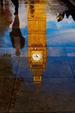 Big Ben Clock Tower puddle reflection London Royalty Free Stock Image