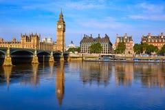 Big Ben Clock Tower and thames river London Royalty Free Stock Photos