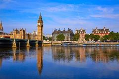 Big Ben Clock Tower and thames river London Royalty Free Stock Photography