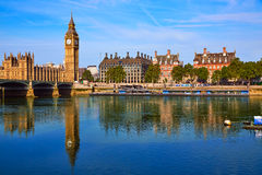 Big Ben Clock Tower and thames river London Stock Image