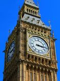 Big Ben close up with blue sky,London royalty free stock image