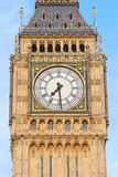 Big ben close up in London, blue sky Stock Photos