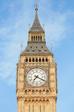 Big ben close up in London, blue sky Royalty Free Stock Photo