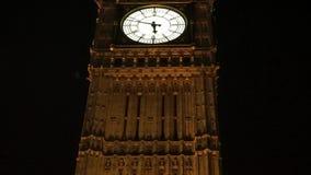 Big Ben, close up, at night stock footage