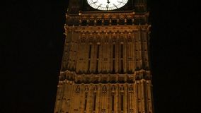 Big Ben, close up, at night stock video footage