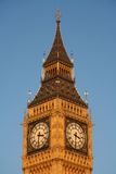 Elizabeth Tower. The Elizabeth Tower, commonly known as the Big Ben, at the north end of the Palace of Westminster in London Stock Photos
