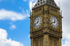 Big Ben closeup with clouds royalty free stock image