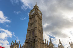 Big Ben with clouds in the background Royalty Free Stock Photo